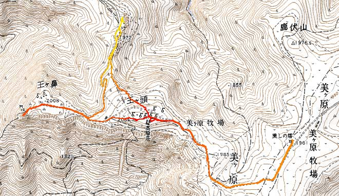 kashmir3dによるトラックログ(山旅倶楽部の地図を利用)