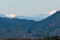 坂浜聖ヶ丘橋からの塩見岳